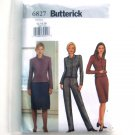 Misses Jacket Skirt Pants 12 14 16 Easy Butterick Sewing Pattern 6827
