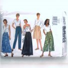 Misses Split Skirt Pants 8 10 12 Classics Easy Butterick Sewing Pattern 6947