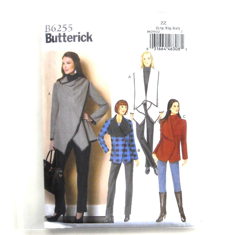 Misses' Women's Oversized Collar Coats Butterick Sewing Pattern B6255