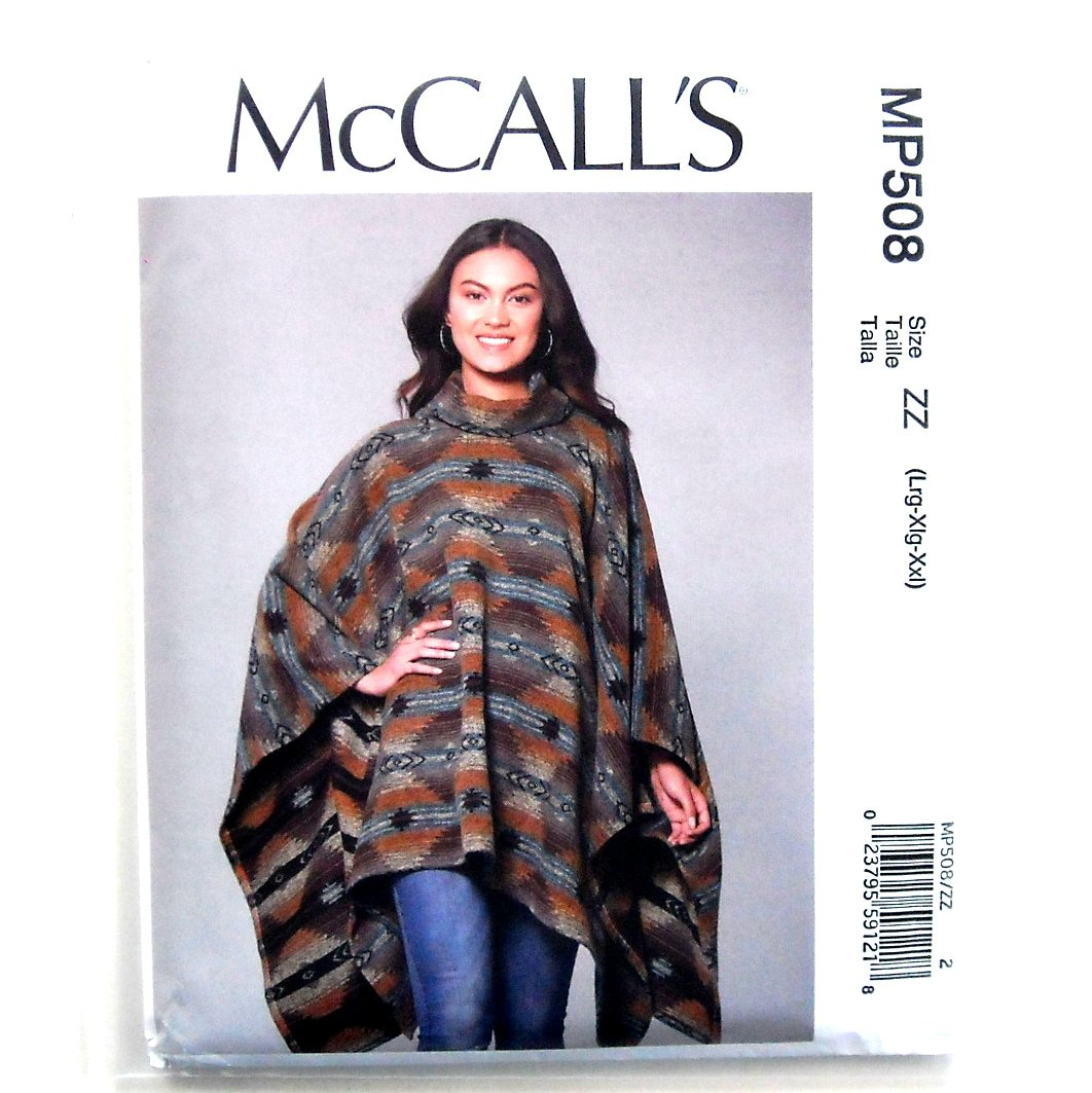 Misses' Women's Ponchos & Belt McCall's Sewing Pattern MP508