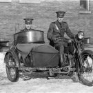 WEST VIRGINIA STATE POLICEMEN MOTORCYCLE VINTAGE HARLEY DAVIDSON SIDECAR PHOTO