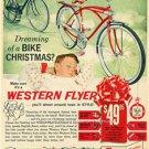 Old Bikes Schwinn Style Western Auto Flyer Christmas Ad Boys Girls Bicycle Photo