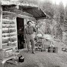 1900 Pikes Peak Colorado Gold Prospector Photo Log Cabin Home Rocky Mountains