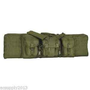 """Voodoo Tactical 42"""" Double Padded Double Weapons Rifle Case w/Mag Pouch OD Green"""