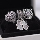 2016 Fall NEW S925 Sterling Silver Hollowing Love Pendant charm Jewelry Set Fit European Bracelet