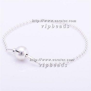S925 Silver Bracelet ESS - Collection Clasp Bracelet Beaded Sterling Silver