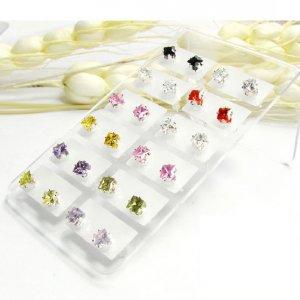 Wholesale lots 24 4mm Crystal Nickle Free Stud Earrings