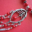 Red Coral Stone Necklace