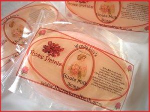 Rose Petal Goats Milk Soap