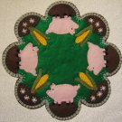 """This Little Piggy"" Candle Mat Penny Rug PATTERN #168"