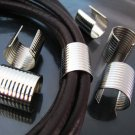 Finding - 6 pcs Silver Large Adjustable Crimp Round Tone Tube Curve Fold Over End Cap 16mm x 15mm
