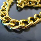 Finding - 1 Yard of Gold Large Chain Fashion Curb Link ( 14mm x 10mm width each Oval )