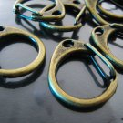 Finding - 2 pcs Antique Brass Very Large Solid Lobster Clasp Closure Toggle Buckle 28mm x 22mm