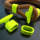 Finding - 1 Set Neon Yellow T Bar Hook Loop Clasp Toggle