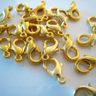 Finding - 10 pcs Gold Solid Mini Lobster Claw Clasp Closure 12mm x 7mm