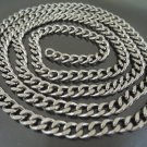Finding - 1 Yard Silver Iron Chain with Unfinished Link ( 7mm width in each oval )