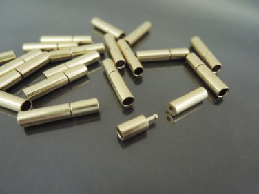 Finding - 2 Sets of Gold Open Round Buckle End Cap Clasp Connector ( Inside 2.5mm Diameter )