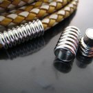 Finding - 1 Set Silver Magnetic Clasp Buckle Fastener ( Inside 6mm Diameter )