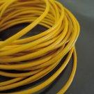 1 Yard 2mm Yellow Genuine Round Leather Cord