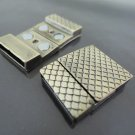 Finding - 1 Set Antique Brass Flat Magnetic Clasp ( Inside 19mm x 2.5mm diameter )