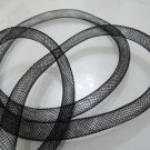 2 Yards of Black Horsehair ( Crin ) Tube Crinoline for Hair Accessories ( 7mm Width )