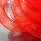 1 Yard of Red Horsehair ( Crin ) Tube Crinoline for Hair Accessories ( 15mm Width )