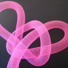 1 Yard of Pink Horsehair ( Crin ) Tube Crinoline for Hair Accessories ( 15mm Width )