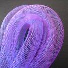 1 Yard of Purple Horsehair ( Crin ) Tube Crinoline for Hair Accessories ( 15mm Width )