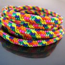 1 Yard of 5mm Summer Colorful Rainbow Striped String Round Braided Trim Rope Cord