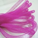 2 Yards of Pink Horsehair ( Crin ) Tube Crinoline for Hair Accessories ( 7mm Width )