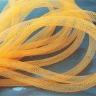 2 Yards of Orange Horsehair ( Crin ) Tube Crinoline for Hair Accessories ( 7mm Width )
