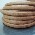 1 Yard 5mm x 4mm Natural Brown Round Oval Cotton Wax Cords