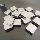 Finding - 6 pcs Silver Straight Flat Square Tubes 10mm x 10mm x 4mm ( Inside 9mm x 2mm )