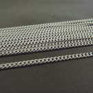 Finding - 1 Yard Silver Little Curb Chain of Unfinished Link ( 2mm )