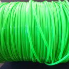 10 Yards of Neon Green Flat Hollow Rubber Plastic Cord ( 2 mm Width )