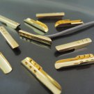 Finding - 20 pcs Gold Metal Fold Over Crimp 22mm x 4mm