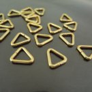 Finding - 10 pcs Gold Triangle Shape Open Jump Rings Connectors 10mm x 11mm