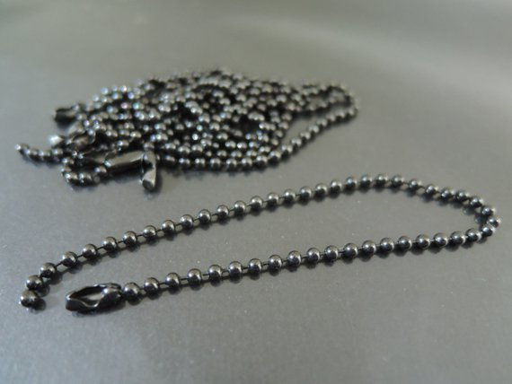 Finding - 10 pcs Black Small Ball Chains Link with Connector For Scrabble Tiles