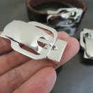 Finding - 1 Set Silver Magnetic Clasp Buckle Fastener ( Inside 10mm x 2mm diameter )