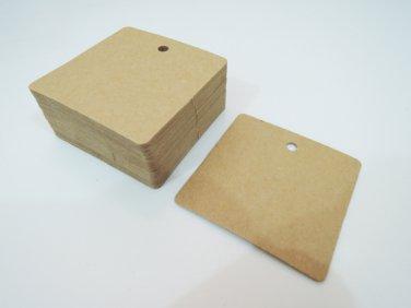 50pcs Kraft Paper Tags Hang Tag Square Plain Tags