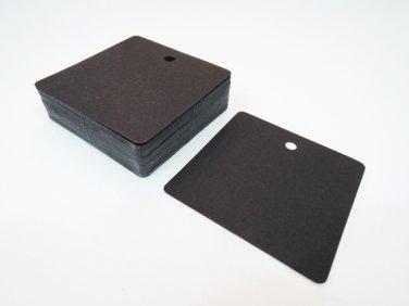 50pcs Black Card Paper Tags Hang Tag Square Plain Tags