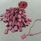 100pcs Dark Red Hang Tag String with Plastic Fastener