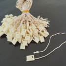 100pcs Ivory Hang Tag String with Plastic Fastener