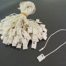 100pcs Cream Hang Tag String with Plastic Fastener