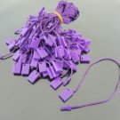 100pcs Purple Hang Tag String with Plastic Fastener