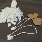 100pcs White Hang Tag String with Plastic Fastener