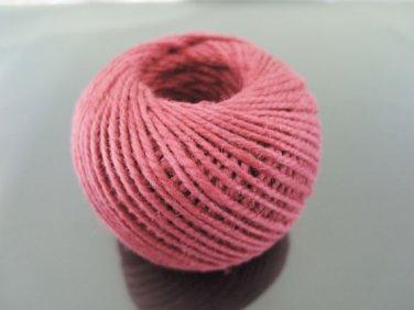 50 Yards 2mm Padparadcha Hang Tag String Hemp Twine Cord Hemp Rope Gift Wrapping