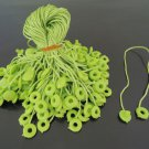 100pcs Apple Green Hang Tag String with Round Plastic Fastener