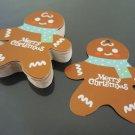 50pcs White Cardbroad Paper Tags Christmas Hang Tag Gingerbread Gift Tags
