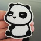 Cute Panda Patches Iron On Patch Applique Embroidered Patch Sew On Patch